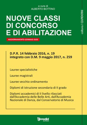 Nuove classi di concorso e di abilitazione