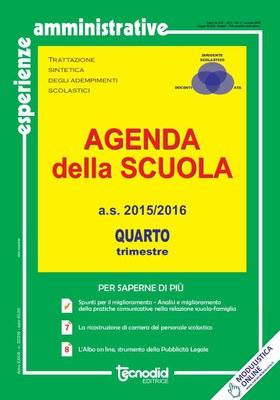 Agenda della scuola - Quarto trimestre a.s. 2015/2016