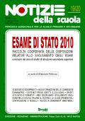 Notizie della scuola n. 19/20 del 1/30 giugno 2010