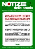 Notizie della scuola n. 7 - novembre 2010