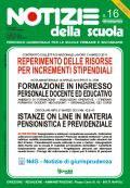 Notizie della scuola n. 16 del 16/30 aprile 2013