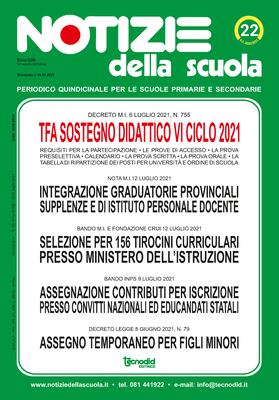 Notizie della scuola n. 22 del 16/31 luglio 2021