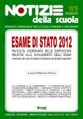Notizie della scuola n. 18/19 del 16 maggio/15 giugno 2012