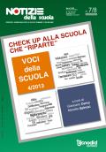 Notizie della scuola n. 7-8 dell'1/31 dicembre 2013 - Voci della scuola n. 4/2013