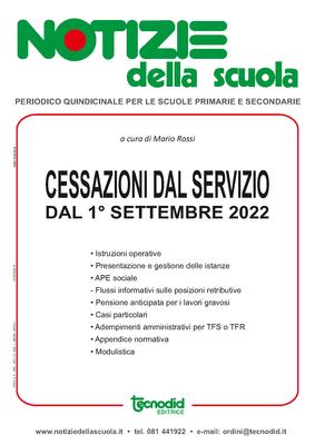 Cessazioni dal servizio dal 1° settembre 2022: Speciale redazionale