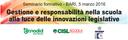 Gestione e responsabilità nella scuola alla luce delle innovazioni legislative - relatore Sergio Auriemma