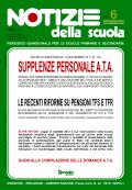 Supplenze personale A.T.A.: online il n. 6 di Notizie della scuola