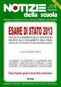 Esame di Stato 2013: online il n. 17/18 di Notizie della scuola
